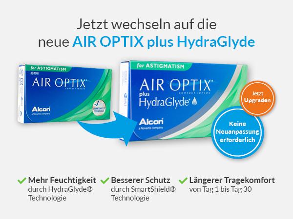 Jetzt wechseln auf die Air Optix plus Hydraglyde