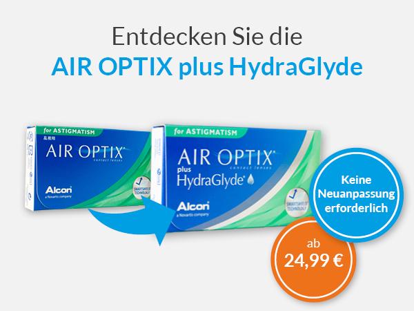 Entdecken Sie die neuen AIR OPTIX plus HydraGlyde bei meineLinse