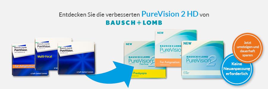 PureVision 2 HD jetzt upgraden und dauerhaft sparen auf meineLinse. Ohne Neuanpassung!
