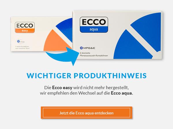 Die Produktion der Ecco Easy wird eingestellt, wir empfehlen den Wechsel auf die Ecco Aqua.