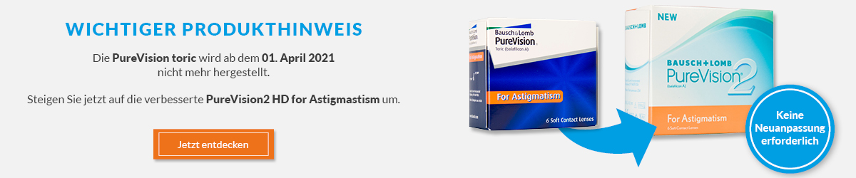 PureVision 2 HD for Astigmatism bei meineLinse