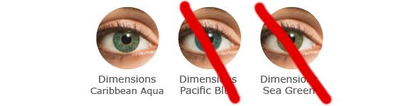 FreshLook Dimensions Farbauswahl